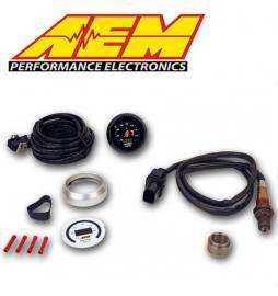 Kit Air/Fuel ratio Sonda Lambda O2 Banda ancha con reloj AEM UEGO digital