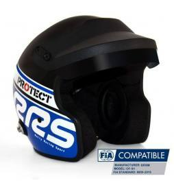 Casco automovilismo HANS Open jet RRS Protect Blue