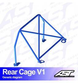 Peugeot 206 Arco trasero AST Rollcages Rear Cage Track Day variante V1
