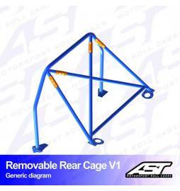Peugeot 206 Arco trasero AST Rollcages Rear Cage Track Day variante V1 Removable