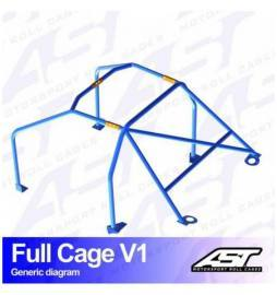 Audi A1 8X Arcos antivuelco AST Rollcages Full Cage Track Day variante V1
