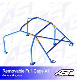 Audi A1 8X Arcos antivuelco AST Rollcages Full Cage Track Day variante V1 Removable