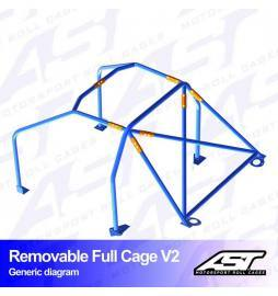 Audi A1 8X Arcos antivuelco AST Rollcages Full Cage Track Day variante V2 Removable