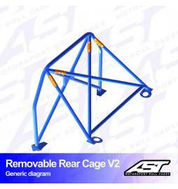 Audi A1 8X Arco trasero AST Rollcages Rear Cage Track Day variante V2 Removable
