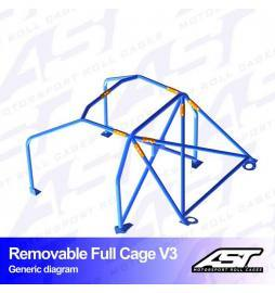 Audi S4 B5 Arcos antivuelco AST Rollcages Full Cage Track Day variante V3 Removable