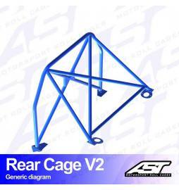 Seat León 5F MK3 Arco trasero AST Rollcages Rear Cage Track Day variante V1 Removable