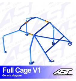 Fiat Uno type 146 Arcos antivuelco AST Rollcages Full Cage Track Day variante V1