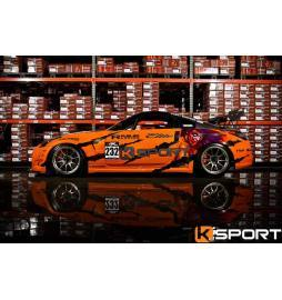 Kit frenos eje delantero KSport 380 mm Audi A4 (B5, B6, B6, B8, B9) con pinzas forjadas monoblock Super 8 Pot & Floating System