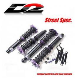 Fiat 500 ABARTH Año 08~UP | Suspensiones ajustables D2 Racing Street Spec.