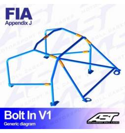 Mercedes E-Class (W124)  Barras antivuelco 6 puntos FIA AST Rollcages Motorsport type BOLT IN variante V1