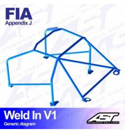 Opel Corsa D Barras antivuelco 6 puntos FIA AST Rollcages Motorsport type WELD IN 8 points variante V1
