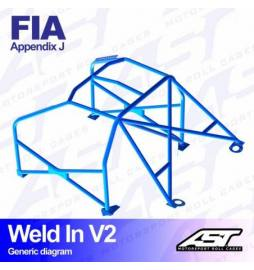 Audi S1 Quattro Barras antivuelco 6 puntos FIA AST Rollcages Motorsport type WELD IN 8 points variante V2