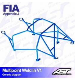 Audi S1 Quattro Barras antivuelco Motorsport FIA Multipoint WELD IN 10 points AST Rollcages variante V1