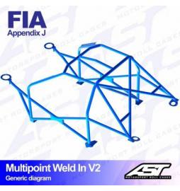 Audi A3 8P Barras antivuelco Motorsport FIA Multipoint WELD IN 10 points AST Rollcages variante V2