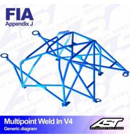 Audi A1 8X Barras antivuelco Motorsport FIA Multipoint WELD IN 10 points AST Rollcages variante V4