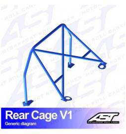 Opel Calibra 3-doors Coupe 4X4 REAR CAGE V1 AST Roll cages