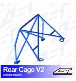 Opel Calibra 3-doors Coupe 4X4 REAR CAGE V2 AST Roll cages
