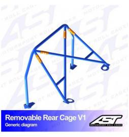 Porsche 924 (1976-1988) 3-doors Coupe RWD REMOVABLE REAR CAGE V1 AST Roll cages