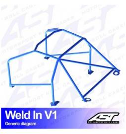 Porsche 968 (1992-1995) 3-doors Coupe RWD WELD IN V1 AST Roll cages