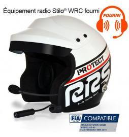 Casco automovilismo RRS JET OF-S1 Black FIA 8859-2015 + Kit Micro/HP Stilo® WRC