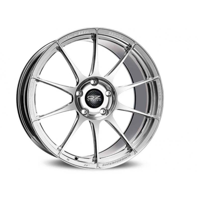 Llanta OZ Racing Modelo SUPERFORGIATA - Medida: 10x20 - Anclaje: 5x114 - ET 44 - Acabado: CERAMIC POLISHED